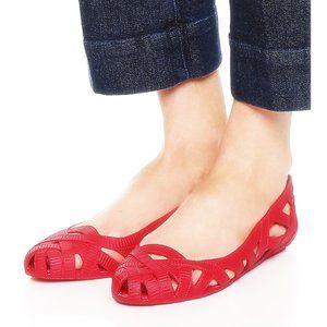 Jason Wu + Melissa Shoes jelly-style cutout flats
